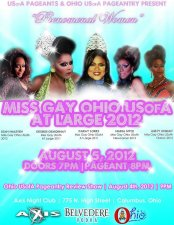 Show Ad | Miss Gay Ohio USofA at Large | Axis Night Club (Columbus, Ohio) | 8/5/2012