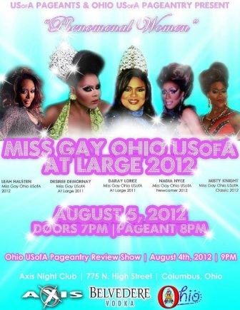 Show Ad   Miss Gay Ohio USofA at Large   Axis Night Club (Columbus, Ohio)   8/5/2012