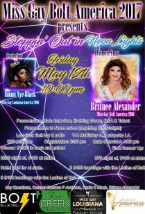 Show Ad | Miss Gay Bolt America | Bolt Bar & Patio (Lafayette, Louisiana) | 5/12/2017