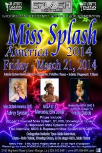 Show Ad   Miss Gay Splash America   Splash Nightclub (Baton Rouge, Louisiana)   3/21/2014