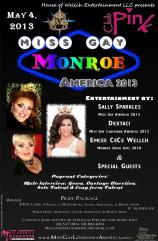 Show Ad | Miss Gay Monroe America | Pink (Monroe, Louisiana) | 5/4/2013