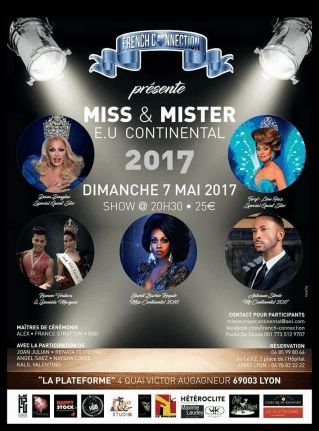 Show Ad | Miss and Mr. Europe Continental | French Connection (Lyon, France) | 5/7/2017