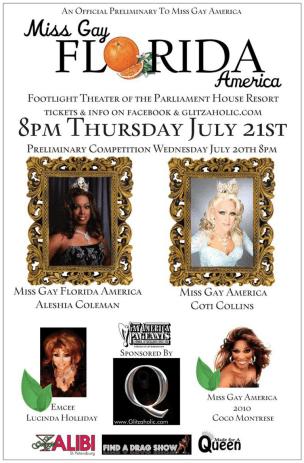 Show Ad | Miss Gay Florida America | Georgie's Alibi (St. Petersburg, Florida) | 7/21/2011