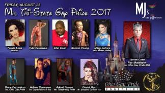 Show Ad | Mr. Tri-State Gay Pride | MJ's on Jefferson (Dayton, Ohio) | 8/25/2017