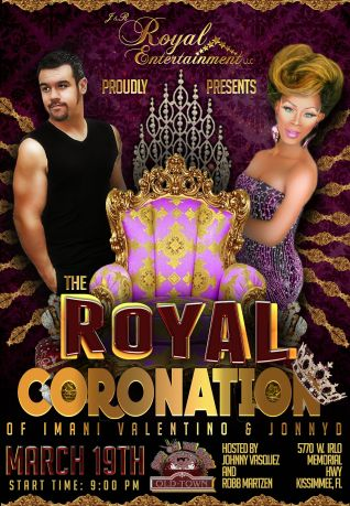 Show Ad | The Royal Coronation of Imani Valentino & Jonny D | Sun on the Beach (Kissimmee, Florida) | 3/19/2017