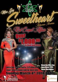 Show Ad | Miss Gay Sweetheart Arkansas America | C4 Nightclub & Lounge (Fayetteville, Arkansas) | 3/4/2018