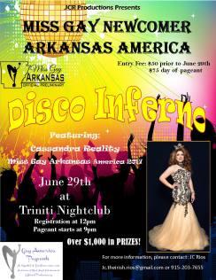 Show Ad | Miss Gay Newcomer Arkansas America | Triniti Nightclub (Little Rock, Arkansas) | 6/29/2018