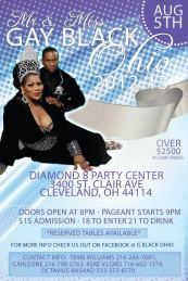 Show Ad | Miss Gay Black Ohio and Mr. Gay Black Ohio | Diamond 8 Party Center (Cleveland, Ohio) | 8/5/2012