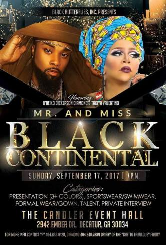Show Ad | Miss Black Continental and Mr. Black Continental | The Candler Event Hall (Decatur, Georgia) | 9/17/2017