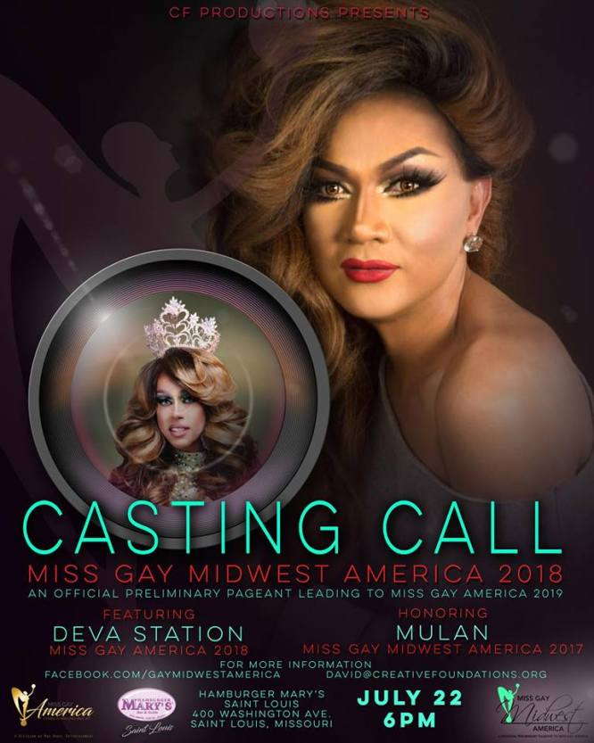 Show Ad | Miss Gay Midwest America | Hamburger Mary's (St. Louis, Missouri) | 7/22/2018