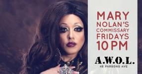 Show Ad   Mary Nolan's Commissary   A.W.O.L. (Columbus, Ohio)   6/8/2018