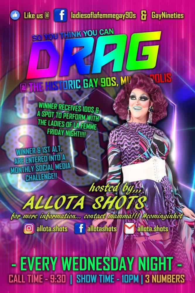Show Ad | Gay 90's (Minneapolis, Minnesota) | 7/18/2018