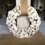 Cotton Ball Wreath Tutorial