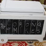 GARDEN WAGON TURNED CHALKBOARD COOLER