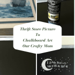 Thrift Store Picture To Chalkboard Art