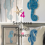 Four Easy DIY Projects Using Seahorse Stencil