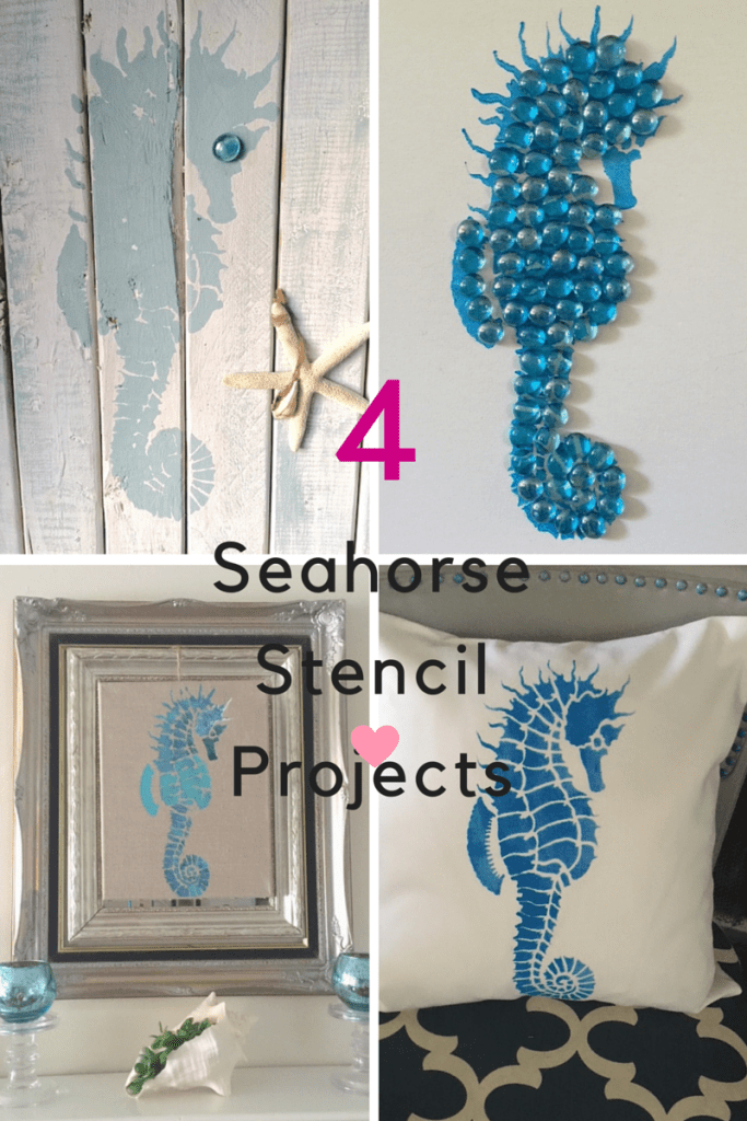 Four DIY Seahorse Stencil Projects