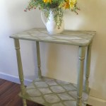 Stenciled End Table From Drab To Fab