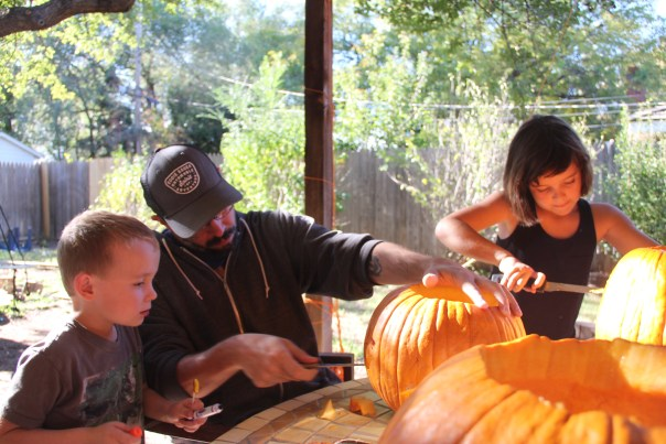 football, pumpkin carving and costumes 058