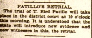 T Bird Pattillo Retrial of 9-13-1899