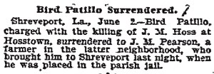 Thomas Bird Pattillo Surrenders, 6-3-1899