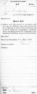 Edward Hemperley parole of 1865