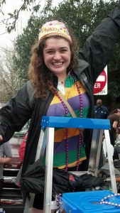 Emy at Mardi Gras