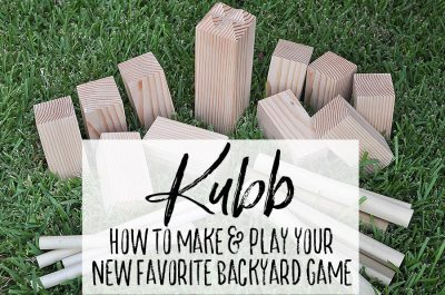 How to Play Kubb + Make Your Own - A DIY Giant Backyard Game - Our Handcrafted Life