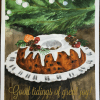 "CHRISTMAS BUNDT CAKE. My original watercolor painting on 9"" x 12"" wc paper. (Reference photo by Natalios via IG)."