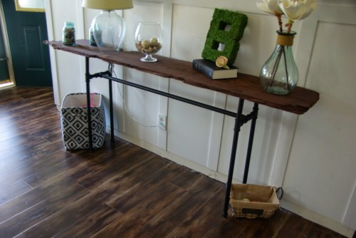 Brilliant Diy Console Table Diy Console Table Our House Now A Home Industrial Console Table Diy Industrial Console Table Target