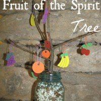 Teaching Values Day 1 - Fruit of the Spirit Trees