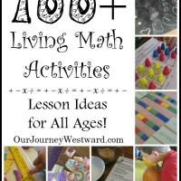 100+ Living Math Activities & Link-Up