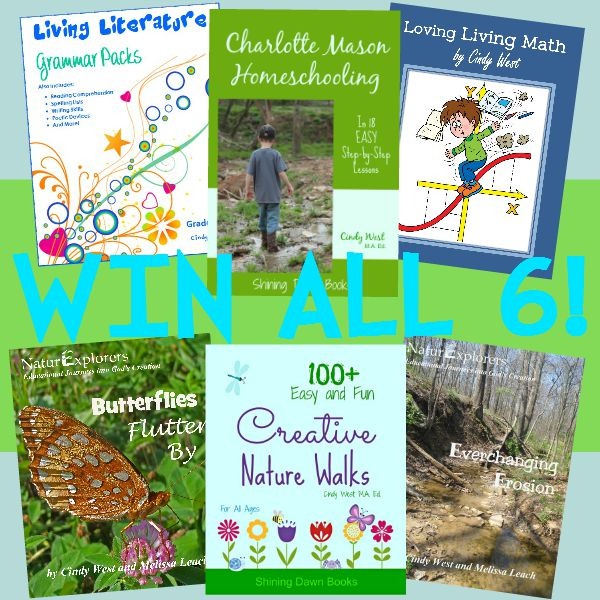 Two winners of SIX Charlotte Mason Homeschooling Books!  Aug. 17-23, 2015