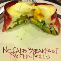 No Carb Breakfast Protein Rolls