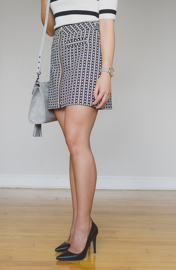 express-black-white-pattern-skirt