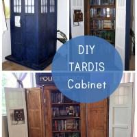 This TARDIS Bookshelf DIY is Actually Bigger on The Inside