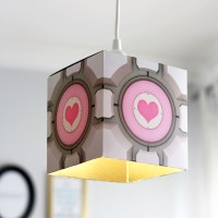 Easy DIY Portal Companion Cube Pendant Lamp
