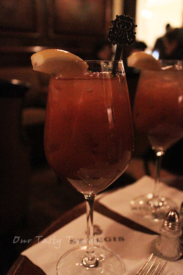 Red Snapper aka Bloody Mary at St. Regis http://ourtastytravels.com/blog/st-regis-hotel-new-york-city-american-birthplace-of-the-bloody-mary-cocktail/ #ourtastytravels