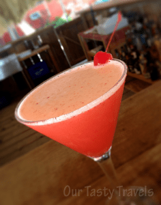 Photo of the Week: Rojo Poison Cocktail at Rojo Lounge, Ambergris Caye, Belize