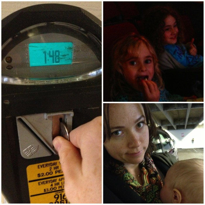 "We went to see the Hobbit today. I had to load up the meter mid show because it was 3 HOURS LONG! I was worried it would be too scary for Ella, but she told me she likes scary movies. In the middle of the movie she said  ""my stomach really needs soda"""