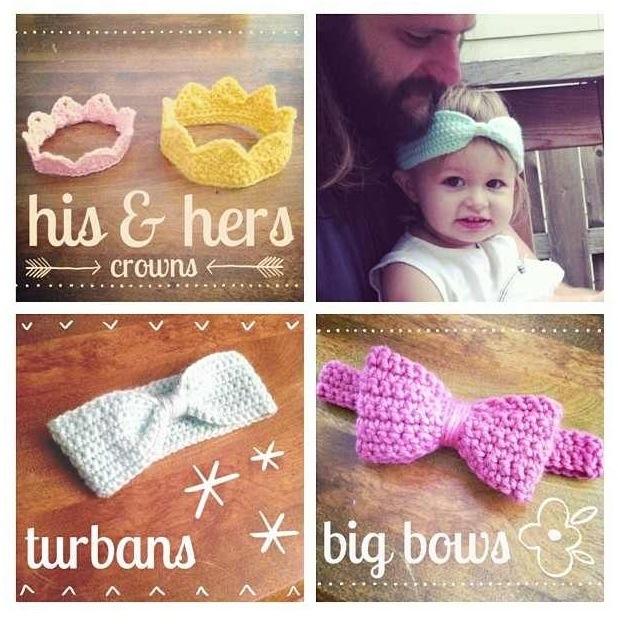 Sweet Potato Patch crochet headbands