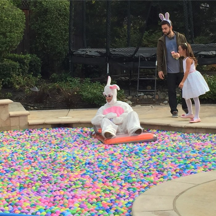 A pool full of eggs
