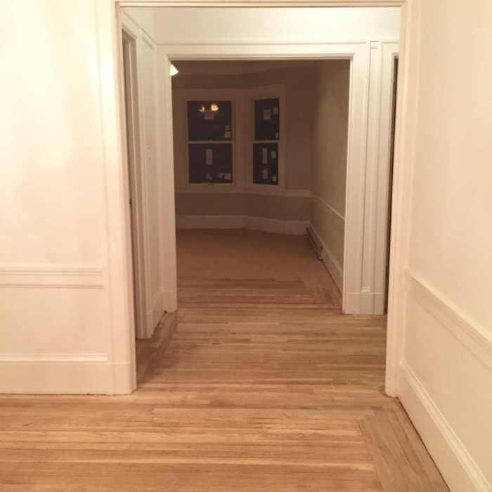 sanded wood floor