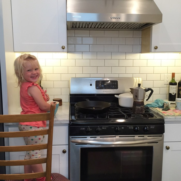 She also started cooking with me.