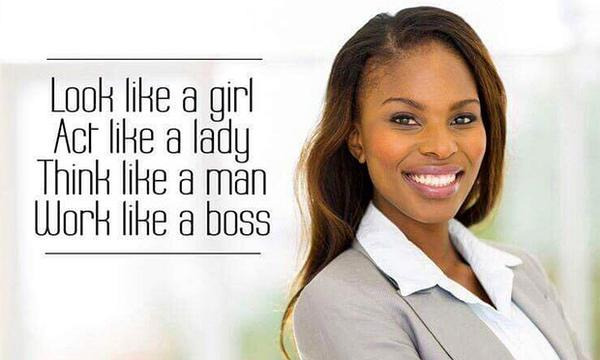 "Bic's ad that sparked controversy. Words are ""look like a girl, act like a lady, think like a man, work like a boss""."