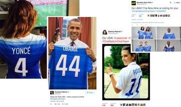 Celebrities and Athletes show support on social media.