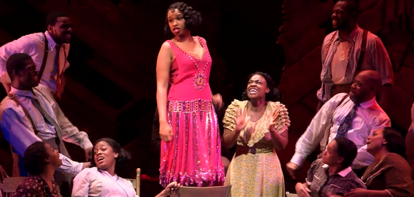 12/8/15 O&A NYC: Jennifer Hudson and The Color Purple Cast Performs Push Da Button