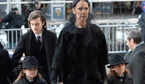 1/23/16 O&A NYC : Céline Dion Mourns Husband René Angélil At Montreal Funeral