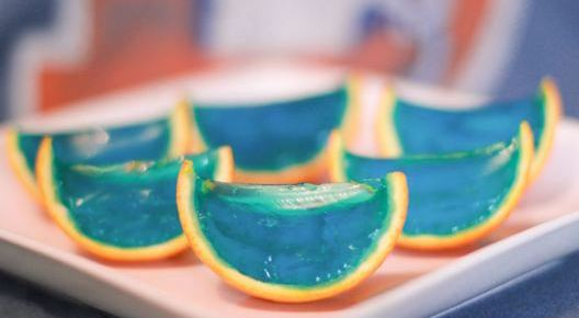 2/6/16 O&A NYC FOOD FOR YOUR SUPER BOWL PARTY: Broncos Orange Slice Jell-O Shots
