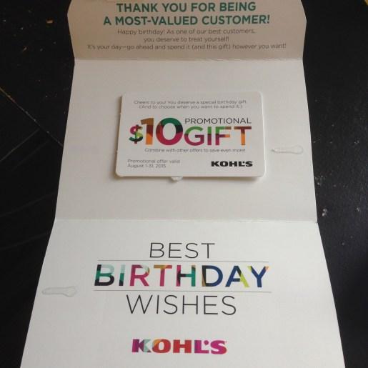 $10 birthday present from Kohl's